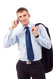 business entrepreneur talking on phone