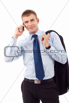 business entrepreneur talking on phone