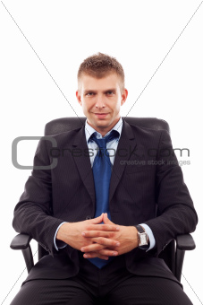 business man sitting