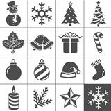 Christmas Icons. Each icon is a single object (compound path)