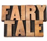 fairy tale in wood type