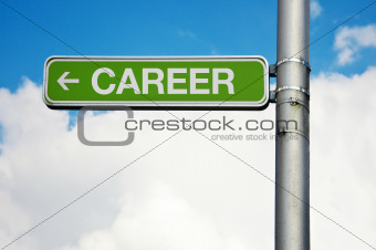 Street sign - career