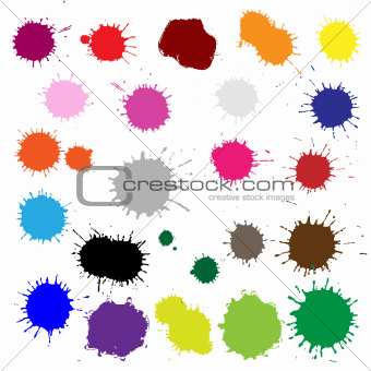 Color Blobs Stains Set