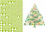 christmas tree and pattern, vector