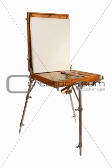 The easel and palette