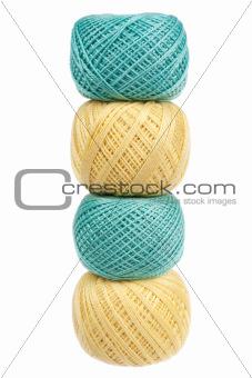 Four balls of yarn