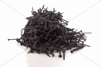 Pile of black screws