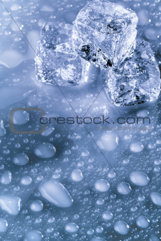 Ice cubes with copyspace