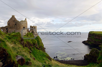 Dunluce Castle in County Antrim, Northern Ireland