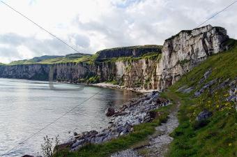 Larrybane Quarry in County Antrim, Northern Ireland