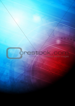 Abstract technical background with arrows