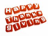 happy thanksgiving in orange blocks
