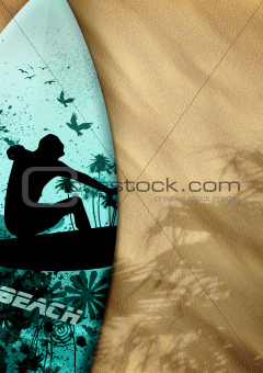 surfboards on sand