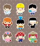 cartoon people job stickers