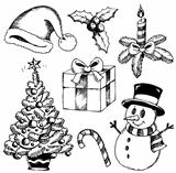 Christmas stylized drawings 1