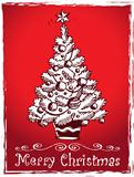 Christmas tree stylized drawing 2