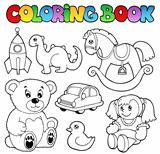 Coloring book toys theme 1