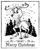 Reindeer theme drawing 1