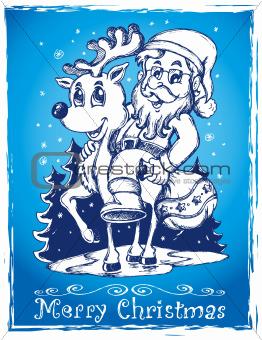 Santa Claus theme drawing 2