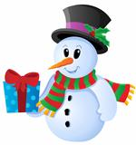 Winter snowman theme image 3