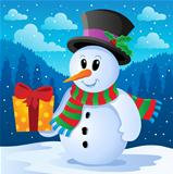 Winter snowman theme image 4