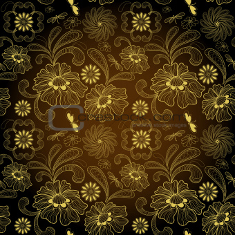 Seamless dark vintage pattern