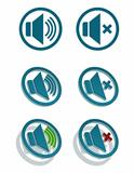Vector simple speaker icons