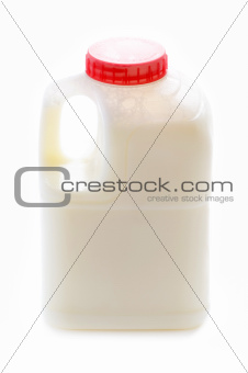one pint of skimmed milk isolated