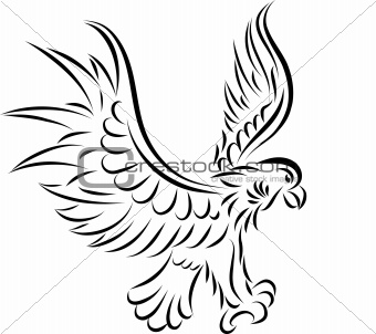 Abstract eagle, vector