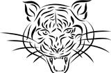 Abstract tattoo tiger, vector