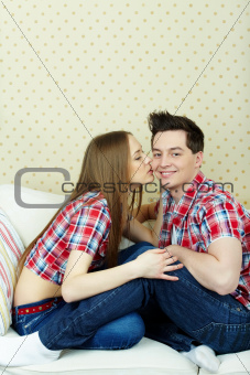 Happy amorous couple