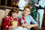 Kids with gifts