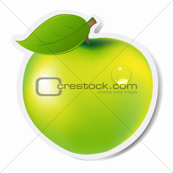 Green Apple Label