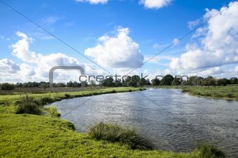 river way countryside surrey england