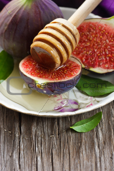 Figs and honey.