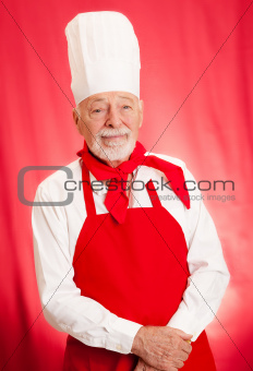 Chef Portrait on Red
