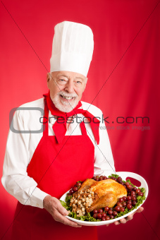 Chef Serves Holiday Dinner