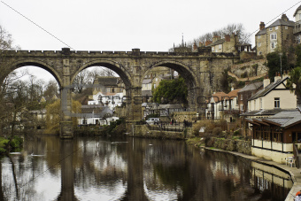 Stone viaduct at Knaresborough