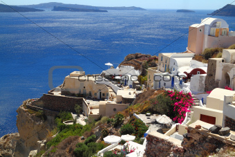Santorini island in Greece