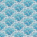 White-blue-gray seamless pattern