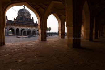 Ibrahim Roza Rauza Mausoleam Arches Framed