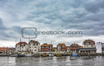 Old harbour in Kerteminde, Denmark