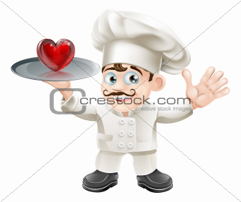 Food lover heart chef