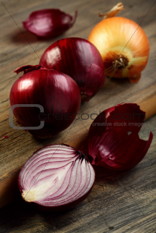 Onion red and gold.