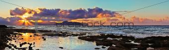 A sunset on the coast of Aspra.