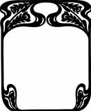 Decorative art-nouveau frame