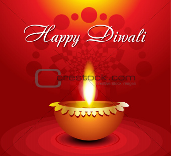 abstract diwali background with diyali