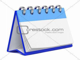 Blank Desktop Calendar Isolated on White.