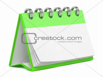 Blank Desktop Calendar Isolated on White.