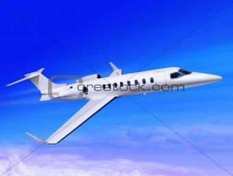 fast jet in the sky